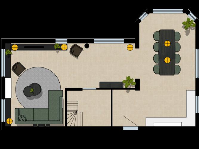 2D plattegrond