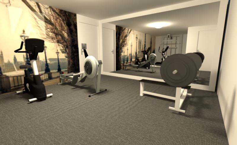 3D visualisatie Gym